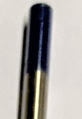 Volfram elektroda, modra